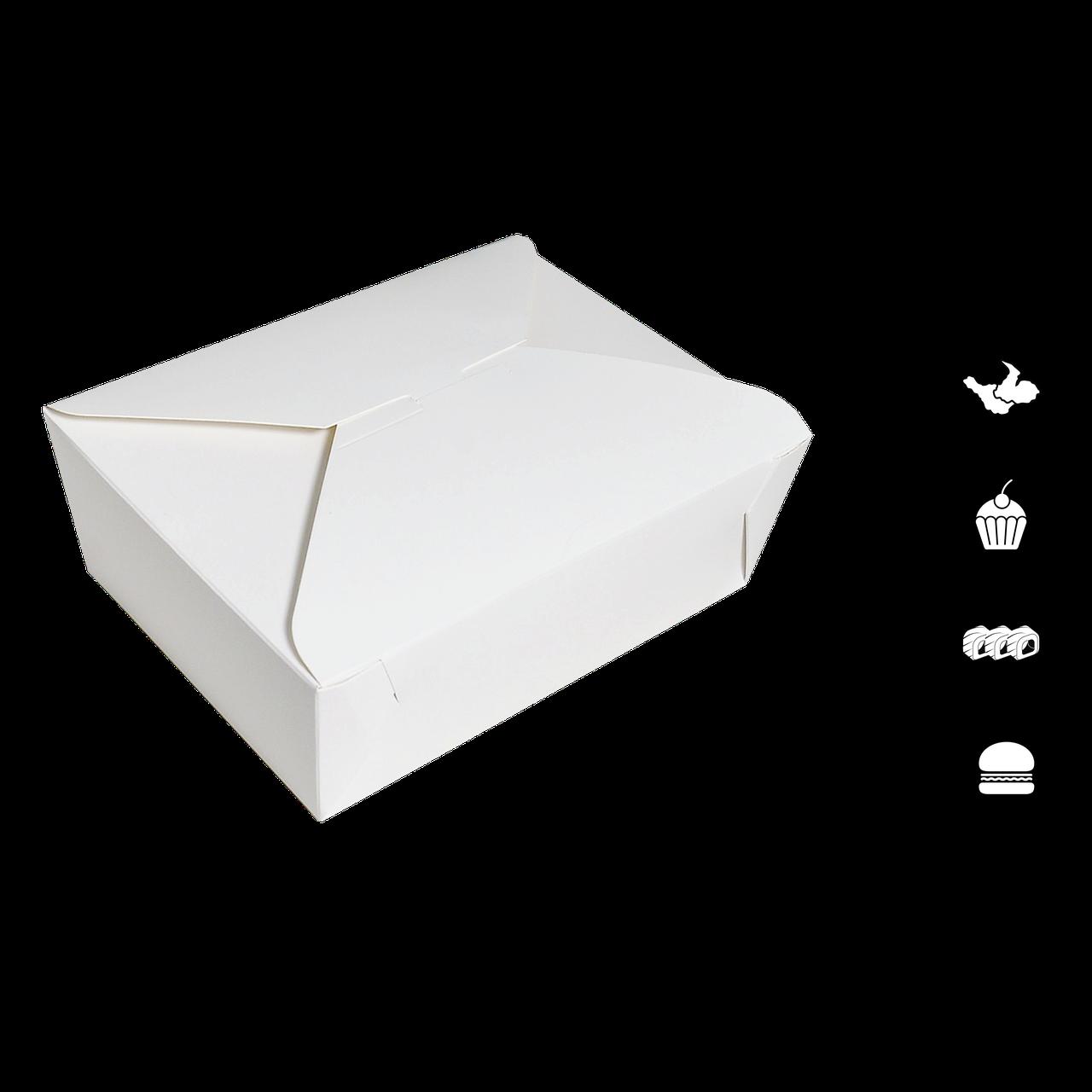 Упаковка (вторые блюда) ЛА 0200 белая 100*90*60мм (уп/25шт)