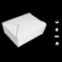 Упаковка (вторые блюда) ЛА 0200 белая 100*90*60мм (уп/25шт), фото 1