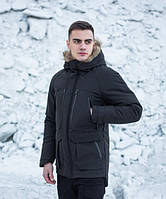Куртка парка зимняя мужская Seniora udacha (черная)