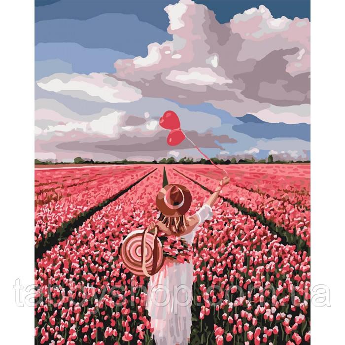 Картина по номерам Идейка - Розовая мечта