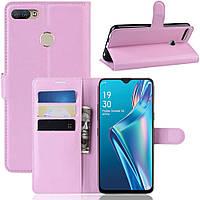 Чехол-книжка Litchie Wallet для Oppo A12 Pink