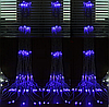 Гирлянда светодиодная Занавес-Водопад 2 на 2 метра 320 led синий
