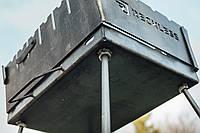 Разборной мангал чемодан на 6 шампуров, 3мм. Reckless .