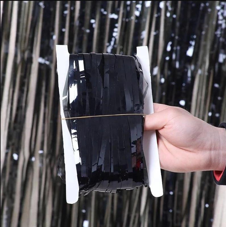 Фольгована шторка чорний 1,2*2 метри