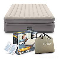 Надувная кровать двуспальная Intex 64164 (152-203-51 см) со встроенным электронасосом (Гарантия 12 мес)