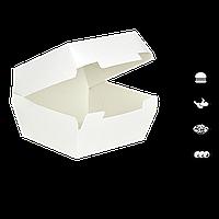"""Упаковка для Бургера """"Ю"""" Белая 95х95х70мм 25шт/уп"""