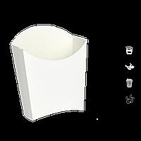 """Упаковка Картонная для Картофеля Фри """"Ю"""" «мини» Белая 50*95*100мм 25шт"""