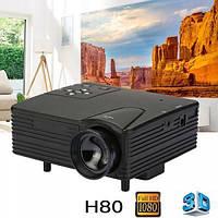 Мини проектор портативный мультимедийный Led Projector W662 H80 | міні лед проектор (Гарантия 12 мес)