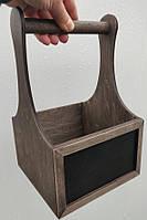 Барный органайзер для кафе (с ручкой и меловой табличкой) | Era Creative Wood
