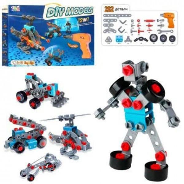Детский Конструктор игрушка Tu Le Hui Div Models 12в1 (282 детали) Робот Развивающий конструктор див моделс