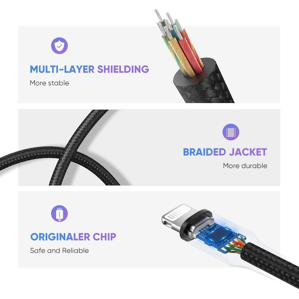 Переходник Lightning кабель to 3.5 mm для наушников Ugreen 30756 (US21 7