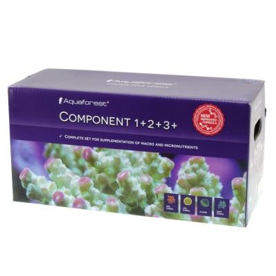 Микро и макроэлементы для морского аквариума AQUAFOREST Component 1+, 2+, 3+, 3x5л Баллинг-метод (732475)