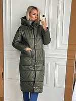 Куртка удлинённая (пальто) на силиконе женская (ПОШТУЧНО), фото 1