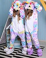 Пижама Кигуруми Звездный Единорог для детей от 120 см и взрослых, для мальчиков и девочек