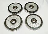Блины (диски) хромированные d-27мм  ТА-2,25кг x 4шт., фото 2