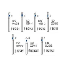 Турбінні бори алмазні середньої абразивності (106-125μ), BC - кулястий з алмазної ніжкою
