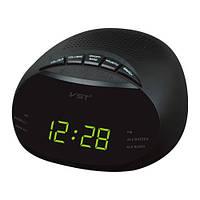 Часы сетевые 901-2 зеленые, радио FM