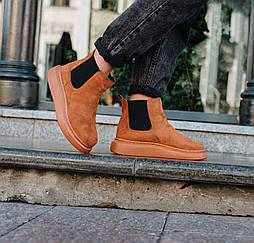 Высокие зимние ботинки с резинкой