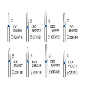 Алмазные турбинные боры средней абразивности (106-125μ), CF -конусный с пико-образным кончиком