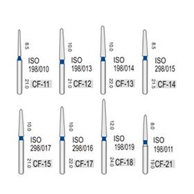 Турбінні бори алмазні середньої абразивності (106-125μ), CF -конусний з піко-образним кінчиком