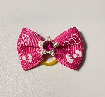 Бантик для собак розовая звезда, 3 см