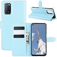 Чехол-книжка Litchie Wallet для Oppo A92 / A72 / A52 Blue