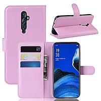 Чехол-книжка Litchie Wallet для Oppo Reno 2Z Pink