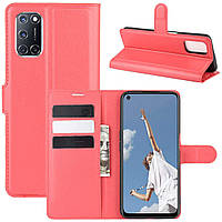 Чехол-книжка Litchie Wallet для Oppo A92 / A72 / A52 Red
