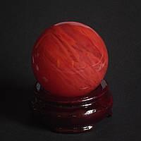 Шар сувенир из камня Турмалин арбузный 139 грамм d-49мм