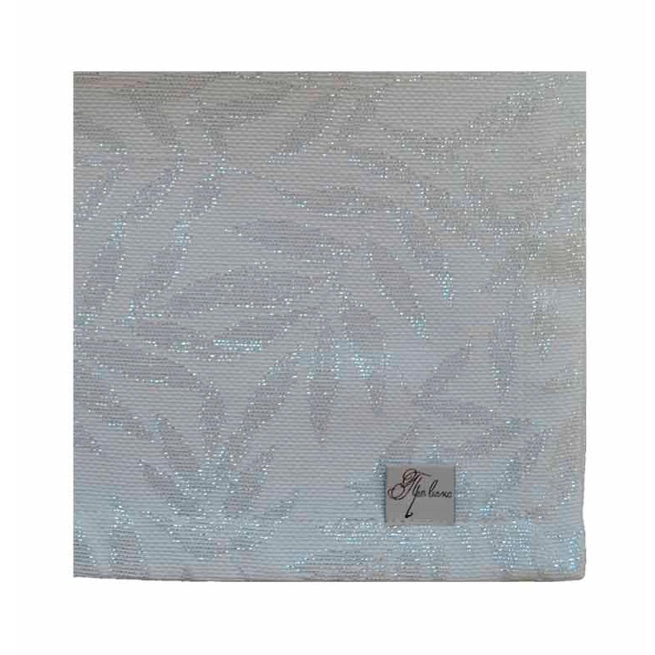 Салфетка Эльза белое серебро