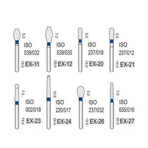Алмазные турбинные боры средней абразивности (106-125μ), EX - специальная форма