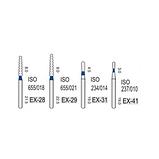Алмазные турбинные боры средней абразивности (106-125μ), EX - специальная форма, фото 2