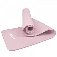Коврик (мат) для йоги и фитнеса Springos NBR 1.5 см YG0040 Pink