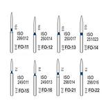 Турбінні бори алмазні середньої абразивності (106-125μ), FO - полум'я-подібний, стрілчастий кінчик, фото 2