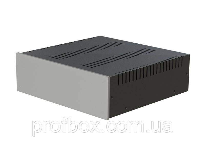 Корпус металевий з алюмінієвою панеллю MB-19 (Ш260 Г250 В80) чорний, RAL9005(Black textured)