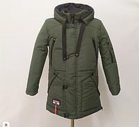 Зимняя Куртка парка подростковая на мальчика теплая от производителя Верхняя одежда детская