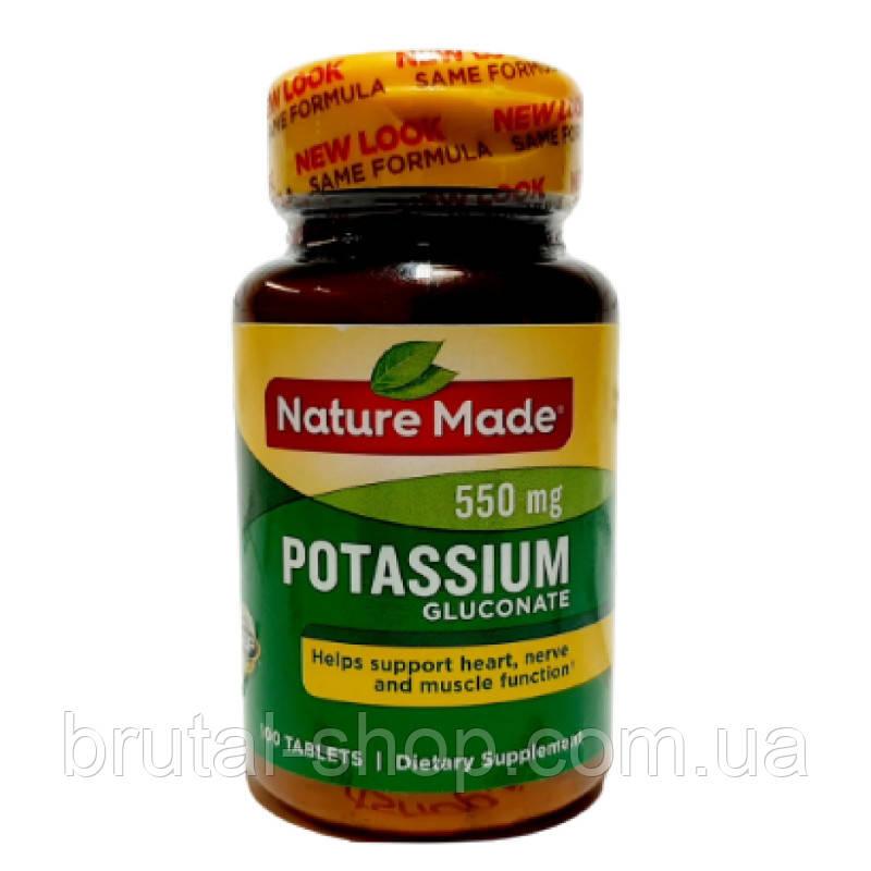 Nature Made Potassium Gluconate 550 mg  (100tab)