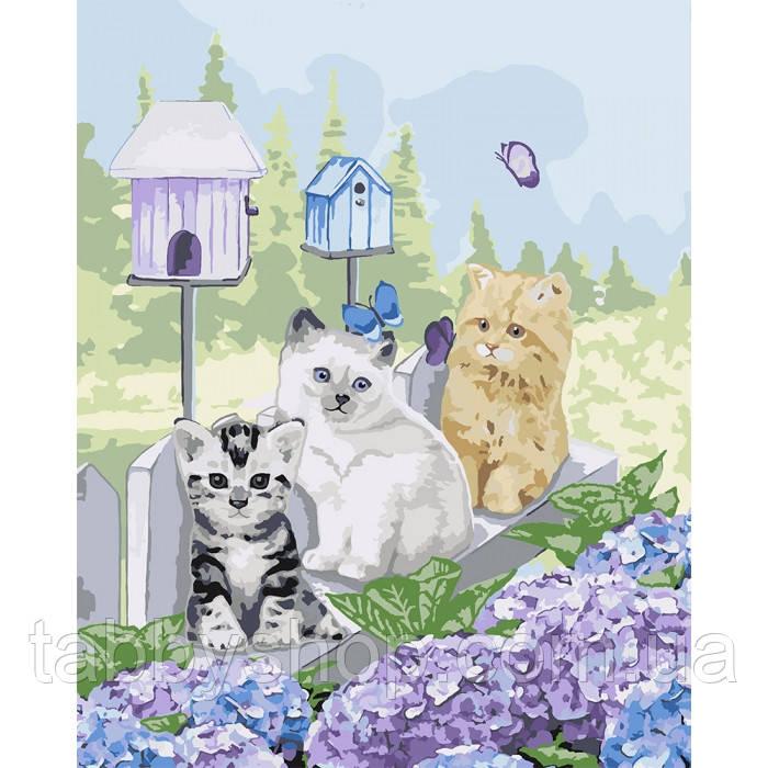 Картина по номерам Идейка - Малыши в саду