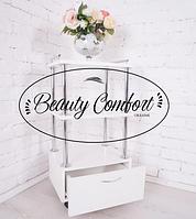 Тележка мастера косметологическая этажерка Mini с выдвижным ящиком Парикмахерские и косметологические тележки
