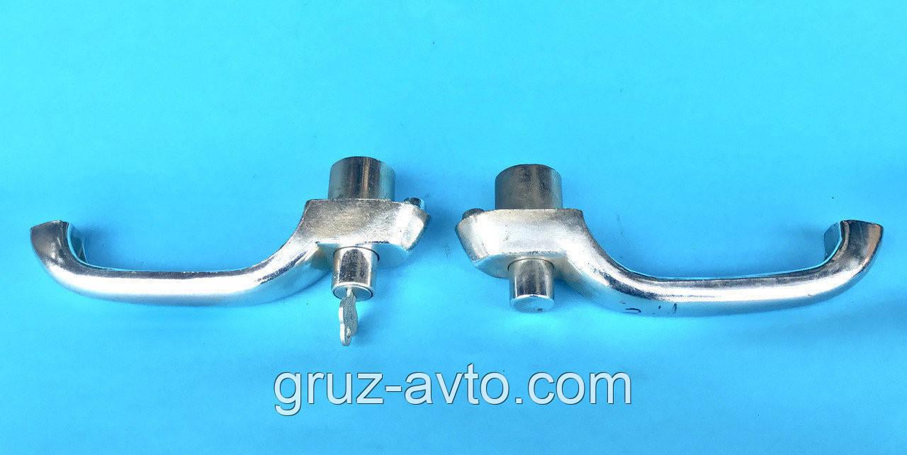 Комплект ручек дверных наружных ЗИЛ-130 ЗИЛ-131 левая с ключом и правая /130-6105151.