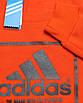 """Свитшот осень-зима оранжевый ADIDAS с принтом """"NYC""""  ORN M(Р) 19-422-003, фото 3"""