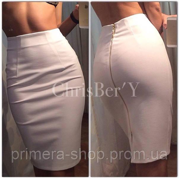 фото юбка карандаш белая