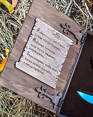 """Солидный подарок для мужчины, у которого есть всё - нож ручной работы """"Мудрость"""", в футляре, фото 2"""