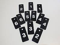 Номерки для ключей 70*30 мм с гравировкой, фото 1