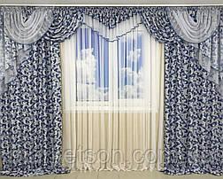 Готовые шторы с ламбрекеном для гостинной.Много цветов., фото 3