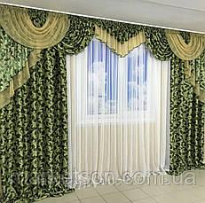 Готовые шторы с ламбрекеном для гостинной.Много цветов., фото 2