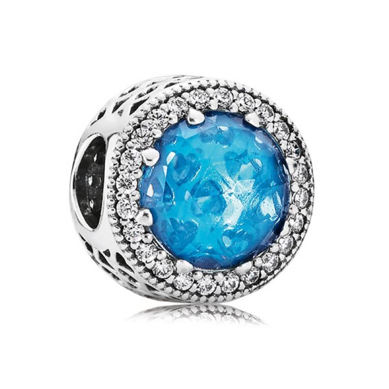 Шарм «Голубые сияющие сердца»
