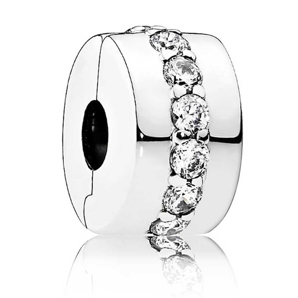 Клипса-разделитель из серебра «Сияющая тропа» в стиле Pandora