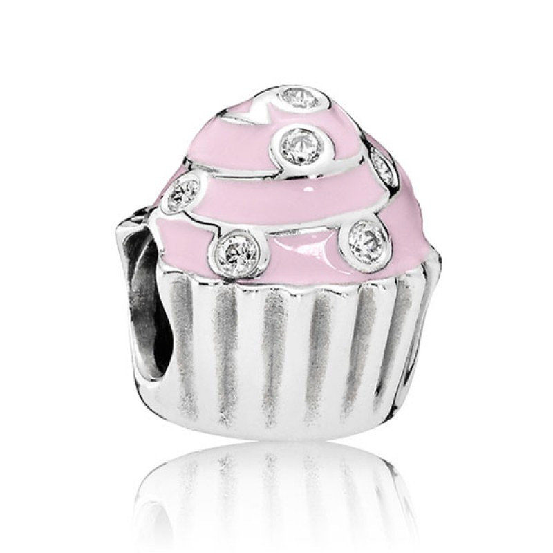 Подвеска-шарм из серебра «Сладкий кекс»