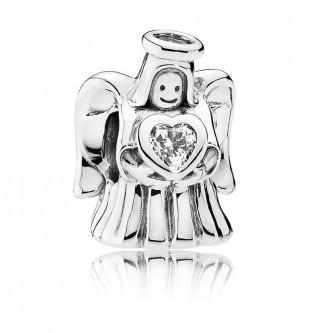 Шарм-подвеска «Ангел любви» из серебра